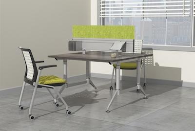 discount office furniture mayline even workstations rh vqvgroup com Dual Workstation Home Office dual monitor workstation desk