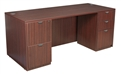 "Regency Legacy Desk - 66"" Straight-Front, Suspended Double File Cabinets - 66"" x 30"""