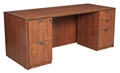 "Regency Legacy Desk - 71"" Straight-Front, Full Double File Cabinets"