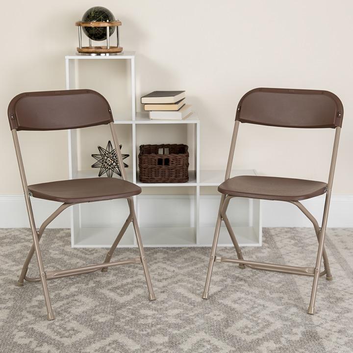 Magnificent Big Tall Folding Chair Hercules 800 Lb Rated Premium Brown Plastic Creativecarmelina Interior Chair Design Creativecarmelinacom