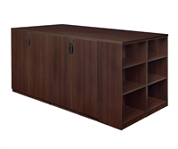 Regency Legacy - Stand Up Station - 2 Lateral Files, 1 Desk, 1 Storage Cabinet with Bookcase End