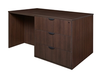 Regency Legacy - Stand Up Station - 2 Storage Cabinets, 1 Desk, 1 Lateral File
