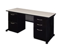 "Regency Fusion Executive Office - Desk, Double File Cabinets - 66"" x 30"""