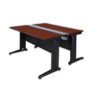 "Fusion 48"" x 58"" Benching Station - Cherry"