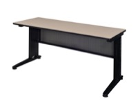 "Fusion 60"" x 24"" Training Table - Beige"