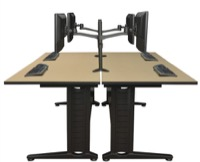 "Regency Fusion Benching Systems - Dual-Sided 72"" Workstations"