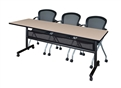 "Kobe Flip Top Mobile Training Table with Modesty Panel - 84"" x 24"""