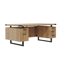 "Mirella Desk Furniture - Free Standing Desk, BBB/BF, 66"" x 30"""