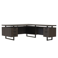 Mirella Desk Furniture - L-Shaped Configuration Desk, BBB/BF