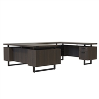 "Mirella Desk Furniture - U-Shaped 66"" x 30"" Desk, BBB/BF"