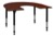 "66"" x 60"" Horseshoe Shaped Height Adjustable Classroom Table - Cherry"