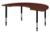 "72"" x 48"" Kidney Shaped Height Adjustable Classroom Table - Cherry"