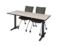 "Regency Cain T-Base Training Table - 72"" x 24"""