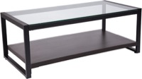 Rosedale Collection - Glass Coffee Table - Black Metal Frame