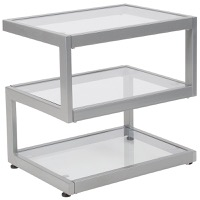 Ashmont Collection - Glass End Table - Contemporary Steel Design