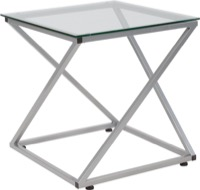Park Avenue Collection - Glass End Table - Contemporary Steel Design