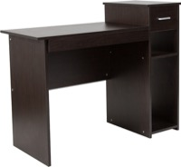 Highland Park Collection -  Espresso Wood Grain Computer Desk - Shelves and Drawer