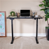 "Electric Height Adjustable Stand Up Desk - Table Top 48"" Wide - 24"" Deep (Black)"