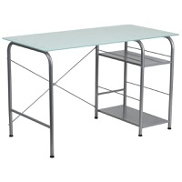 Open Storage Glass Desk