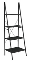 "Niche Soho 72"" Ladder Bookcase - Ebony"
