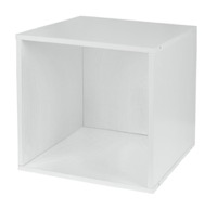 Niche Cubo Stackable Storage Cube  - White Wood Grain