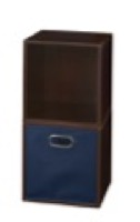 Niche Cubo Storage Set  - 2 Cubes and 1 Canvas Bin - Truffle/Blue