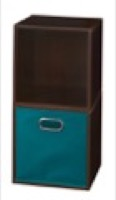 Niche Cubo Storage Set  - 2 Cubes and 1 Canvas Bin - Truffle/Teal