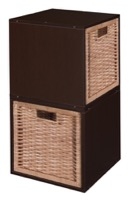 Niche Cubo Storage Set  - 2 Cubes and 2 Wicker Baskets - Truffle/Natural