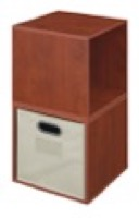Niche Cubo Storage Set  - 2 Cubes and 1 Canvas Bin - Cherry/Natural