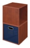 Niche Cubo Storage Set  - 2 Cubes and 1 Canvas Bin - Cherry/Blue