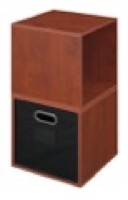 Niche Cubo Storage Set  - 2 Cubes and 1 Canvas Bin - Cherry/Black
