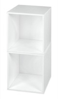 Niche Cubo Storage Set  - 2 Cubes - White Wood Grain