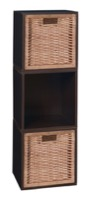 Niche Cubo Storage Set  - 3 Cubes and 2 Wicker Baskets - Truffle/Natural