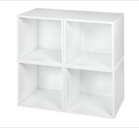Niche Cubo Storage Set  - 4 Cubes - White Wood Grain
