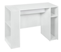 "Niche Mod 31"" Desk with 2 shelf Bookcase  - White Wood Grain"