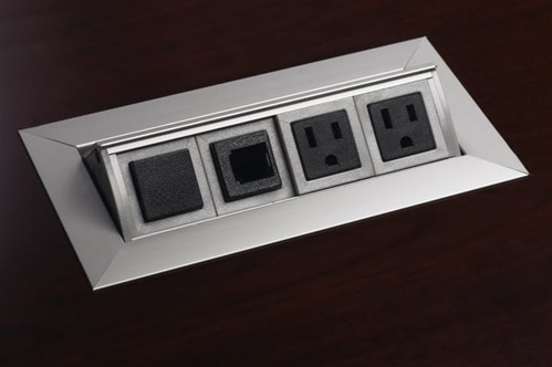 Conference Table Power Data Video Modules Enhance Your Next Meeting - Conference table power box