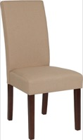 Beige Fabric Parsons Chair