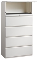 "Great Openings Trace - 5 Drawer Lateral File Cabinet with 1 Flipper Door, Fixed Shelf - 36""W"