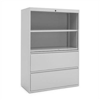 "Great Openings Trace - Lateral File / Shelf - 2 Drawer, 2 Shelves - 36""W"