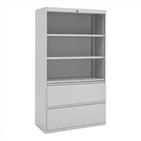 "Great Openings Trace - Lateral File / Shelf - 2 Drawer, 3 Shelves - 42""W"