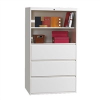 "Great Openings Trace - Lateral File / Shelf - 3 Drawer, 2 Shelves - 30""W"