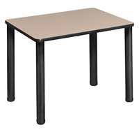 "18.5"" x 26"" Rectangle Desk  - Beige/ Black"