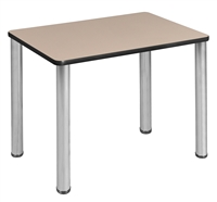 "18.5"" x 26"" Rectangle Desk  - Beige/ Chrome"