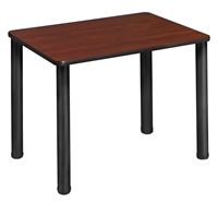 "18.5"" x 26"" Rectangle Desk  - Cherry/ Black"