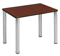 "18.5"" x 26"" Rectangle Desk  - Cherry/ Chrome"