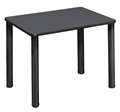 "18.5"" x 26"" Rectangle Desk  - Grey/ Black"
