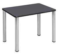 "18.5"" x 26"" Rectangle Desk  - Grey/ Chrome"