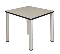 "18.5"" x 26"" Rectangle Desk  - Maple/ Chrome"
