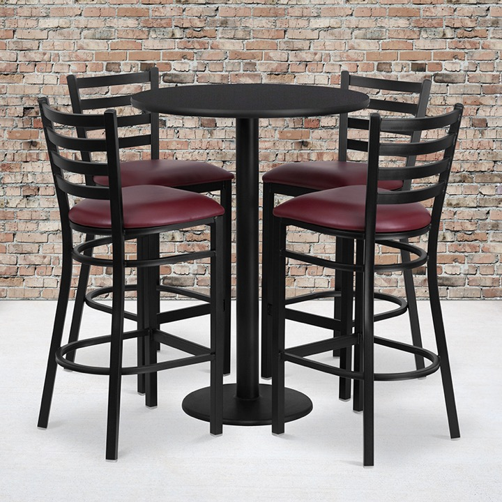 Enhance Your Dining Space With A Table And Metal Restaurant Bar