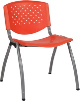 Orange Plastic Stack Chair